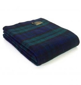 "Tweedmill Textiles Plaid tartan en pure laine  ""Blackwatch"" 140 x 190 cm"