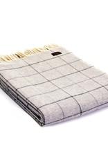 Tweedmill Textiles Plaid mérinos carreaux Gris 130x180 cm