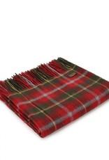 "Tweedmill Textiles Plaid tartan en pure laine  ""Dark Maple"" 150 x 183 cm"