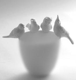 Serax Oiseau en porcelaine mate  pour Vase ou Veilleuse