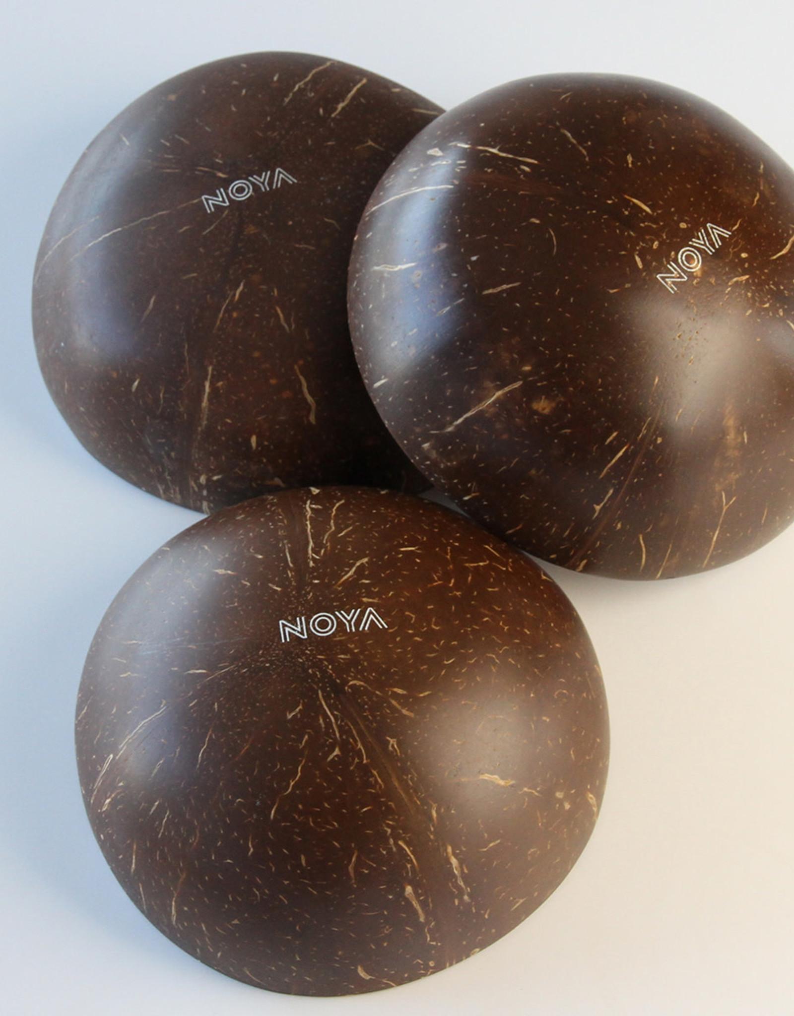 noya Bol en noix de coco Silver Metallic Leaf