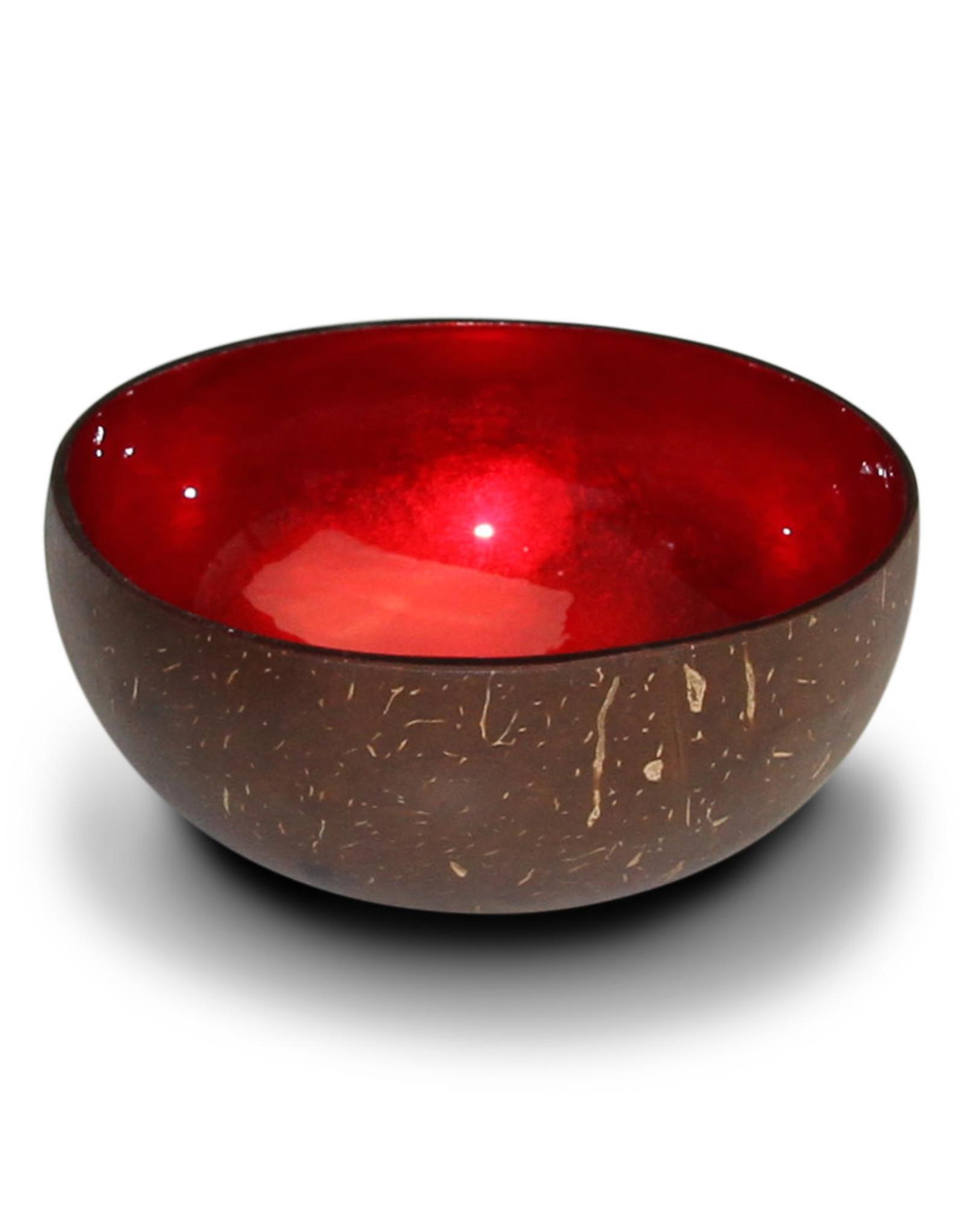 noya Bol en noix de coco Red Metallic Leaf