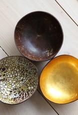 noya Bol en noix de coco Gold Metallic Leaf