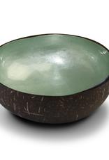 noya Bol en noix de coco Mint Green Metallic Leaf