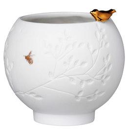 Rader Photophore  porcelaine - Oiseau doré