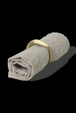 Ferm Living Rond de serviette en laiton - set de 4