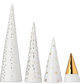 Rader Ensemble de 4 sapins en porcelaine