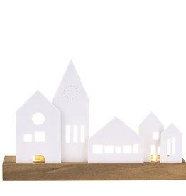 Rader Bougeoir village lumineux en porcelaine