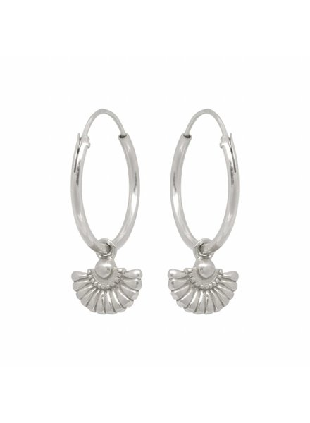 Eline Rosina DECO WAIVER HOOPS silver