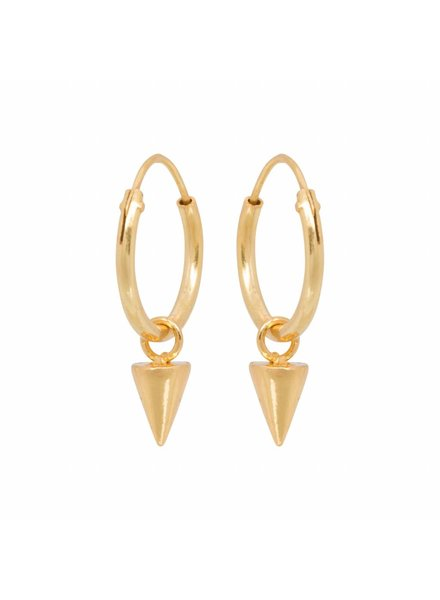 Eline Rosina CONE HOOPS gold