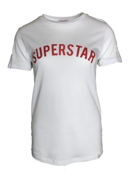 COLOURFUL REBEL SUPERSTAR TEE white