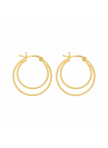 Eline Rosina DOUBLE HOOPS gold