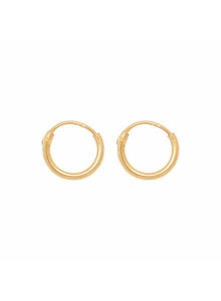 Eline Rosina TINY HOOPS 8mm gold