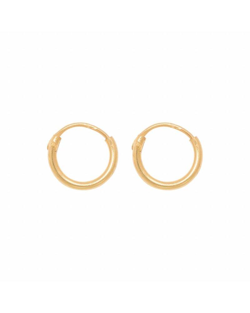 Eline Rosina TINY HOOPS 8mm gold