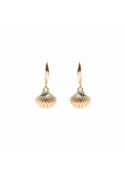 ATLITW SEA SHELL EARRING gold