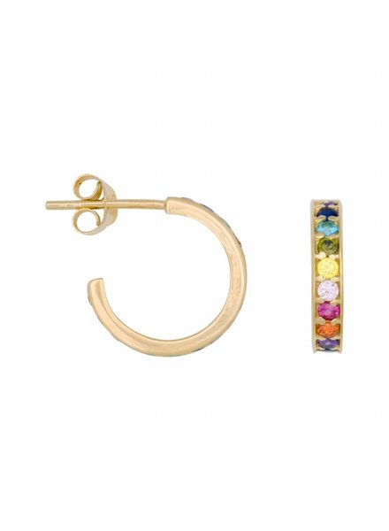 Eline Rosina RAINBOW 14mm gold