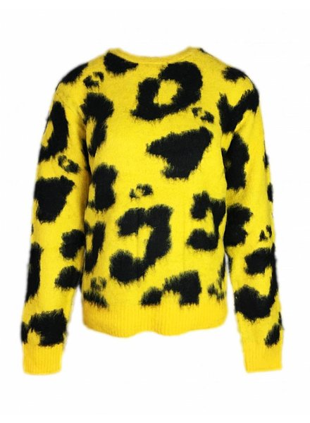 RUT & CIRCLE LEOPARD KNIT yellow