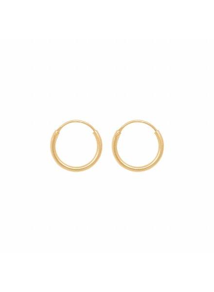Eline Rosina TINY HOOPS 10 mm gold