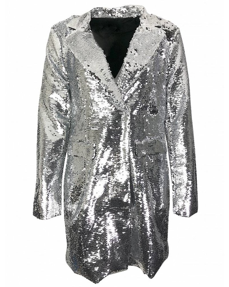 NA-KD BLAZER DRESS silver