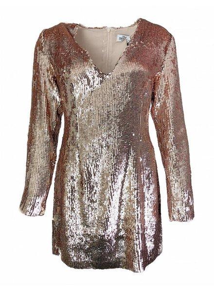 NA-KD V-NECK DRESS copper
