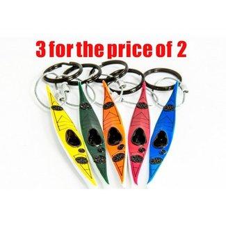Hobkey Sleutelhanger, zeekajak (div. kleuren) 3 voor de prijs van 2