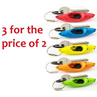 Hobkey Sleutelhanger, wildwaterkajak (div. kleuren) 3 voor de prijs van 2