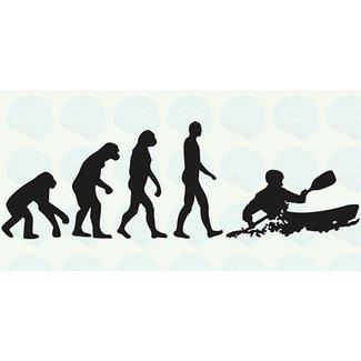 Kajak Evolutie, 25x12.5 cm