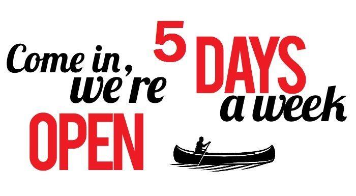 Wij zijn nu weer 5 dagen v.a. 10 uur geopend !