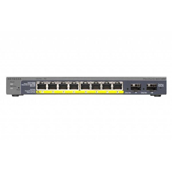 ProSAFE GS110TP 8 Port Gigabit Ethernet PoE Smart Switch