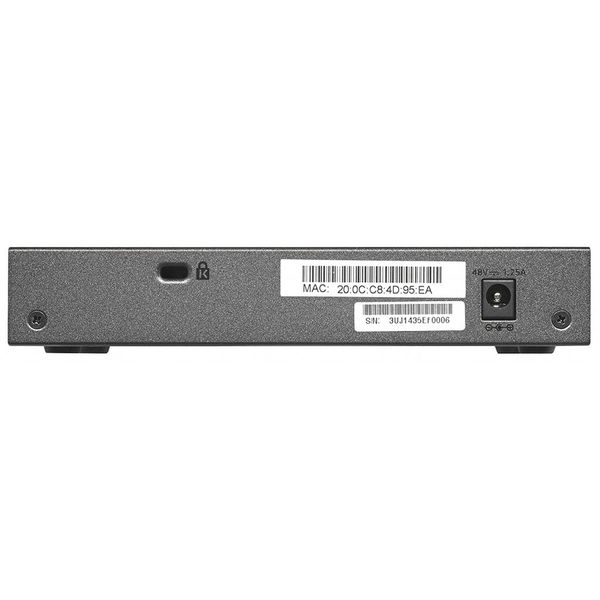 ProSafe GS108PE Plus Unmgd Switch with PoE 8-prt Gigabit 10/100/1000 Mbps-4-port PoE