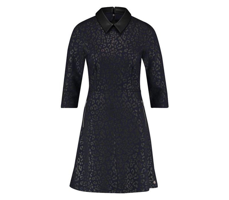 Darcel Dress - Midnight Blue Leopardprint