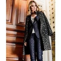 Bella Blazer - Midnight Blue Leopardprint