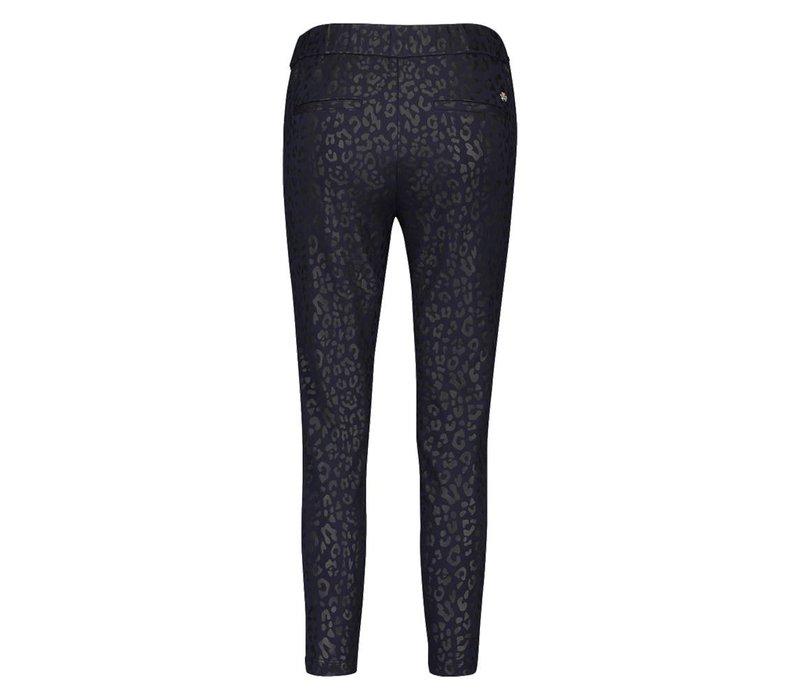 Pleun Pants - Midnight Blue Leopardprint