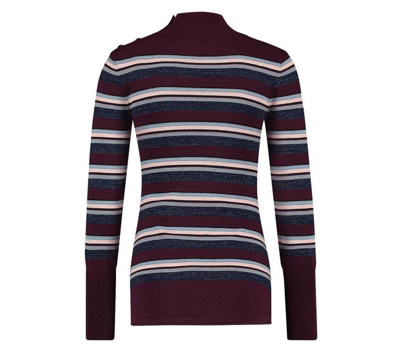 Trini Sweater - Wine Red Stripe