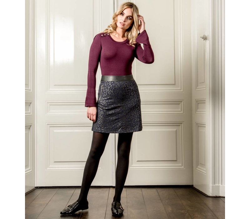 Tulia Sweater - Wine Red