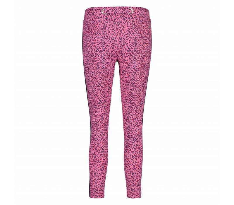 Paris Pants - Pink Leopard Print