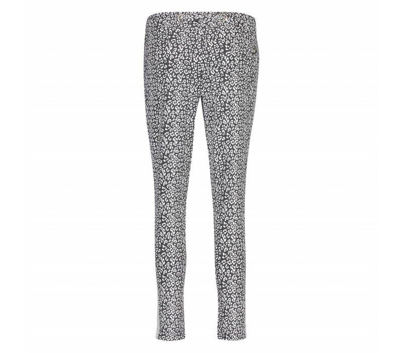 Paris Pants - Grey Leopard Print