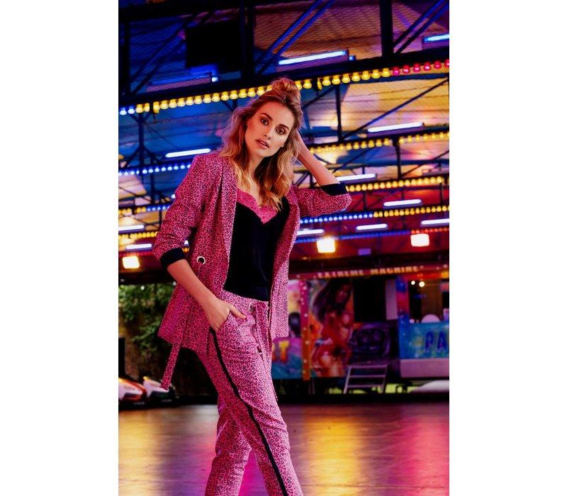 Janice Jacket - Pink Leopard Print