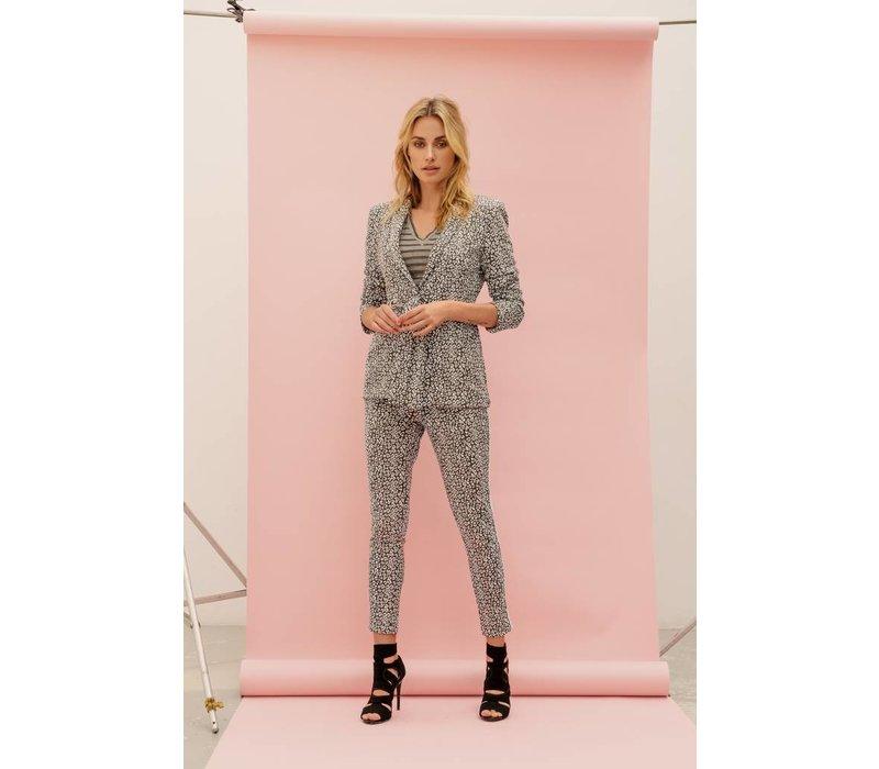 Janice Jacket - Grey Leopard Print