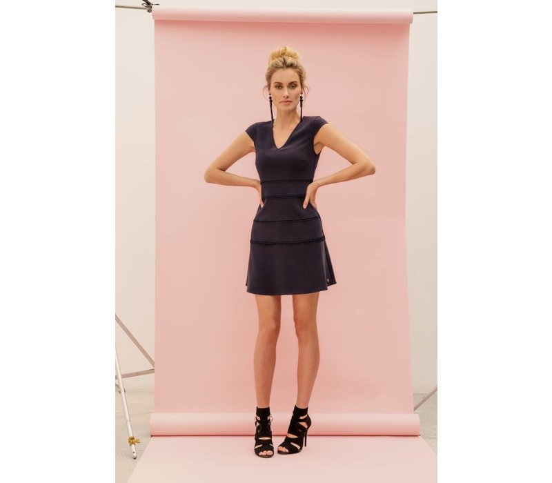 Doris Dress - Navy