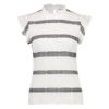 Tacy Top - White Grey
