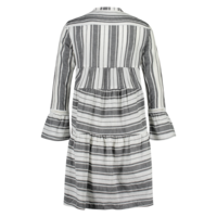 Donna Dress - Black White Stripe