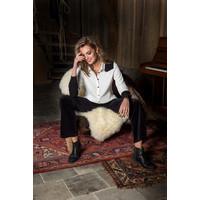 Britney Blouse - White Black
