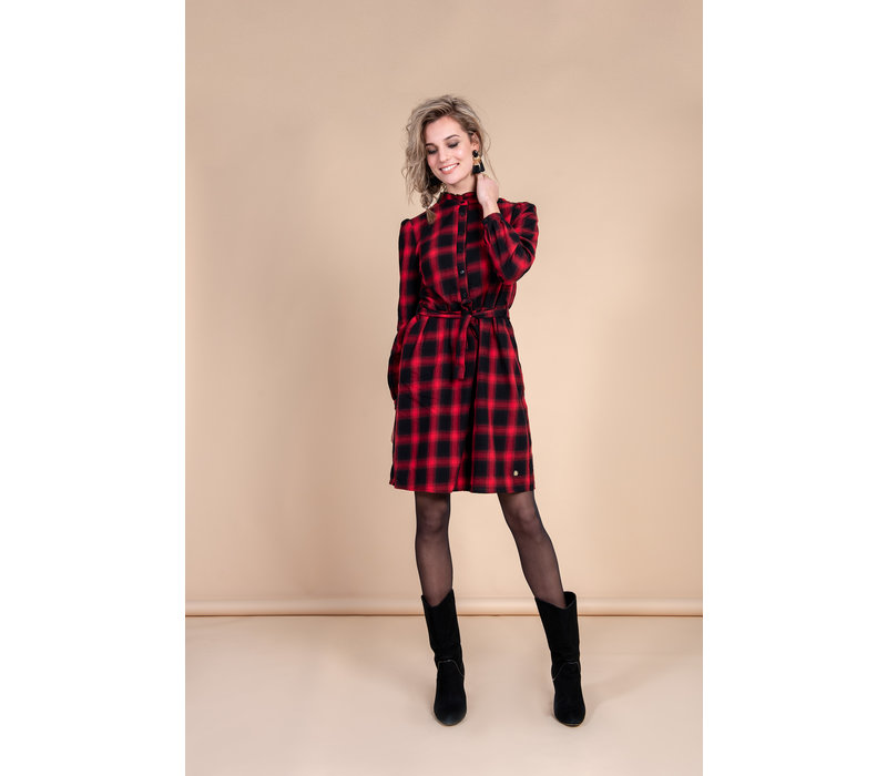 Dolly Dress - Black Red