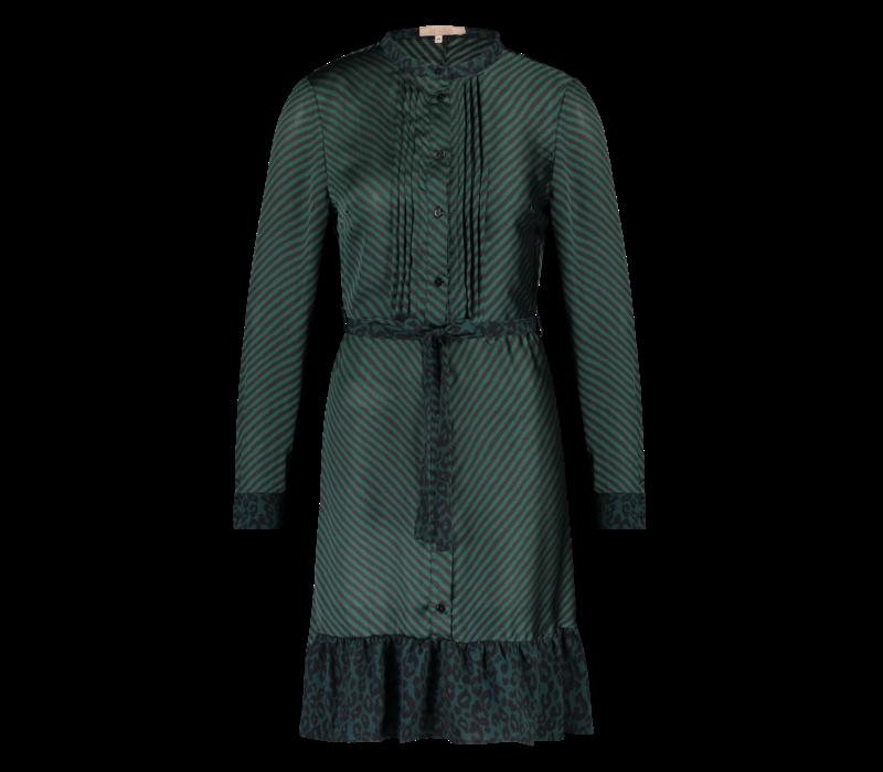 Deirdre Dress - Petrol Print