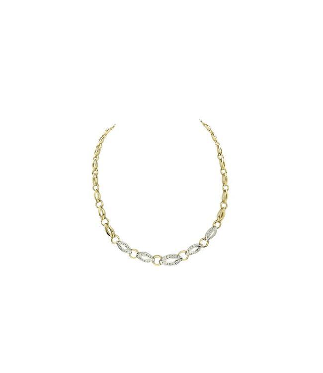 Zweifarbiger Goldhocker mit 1,33 ct. Diamant 14 Crt