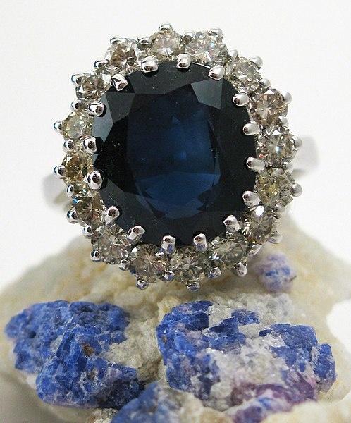 Een replica van de 'prinses diana ring'