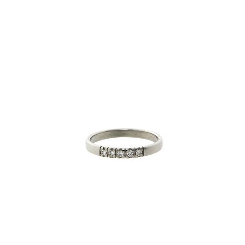 White gold memoire ring with diamond 18 kt * new