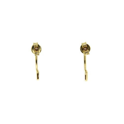 Gold ear studs with zirconia 14 krt