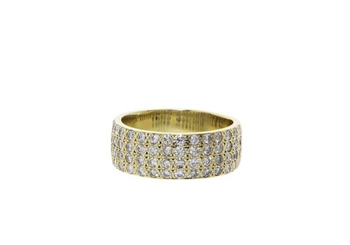Gold ring with diamond 8 crt